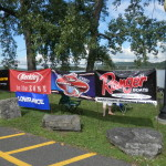 Lowrance Banners at All our events!